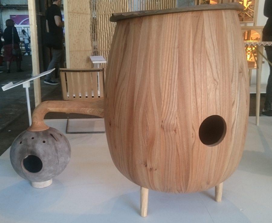 Swedish wood burner at Milan Design Week Ventura Lambrate - emerging designers