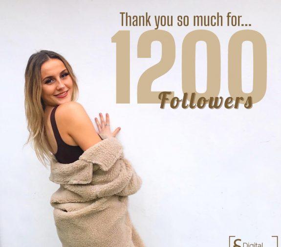 1200 followers