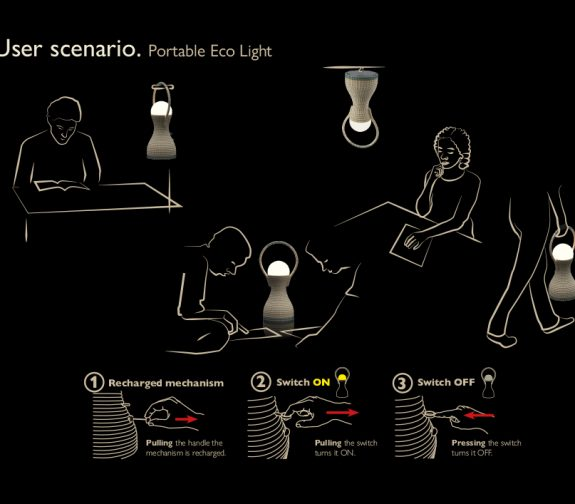 Eco Light. Portable Lamp for LEDC Areas without Electricity.
