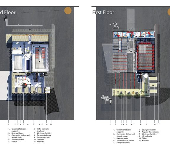 ASHORE ground floor and first floor plans