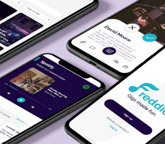 Freddie - Music Gigs with a Twist App Screens