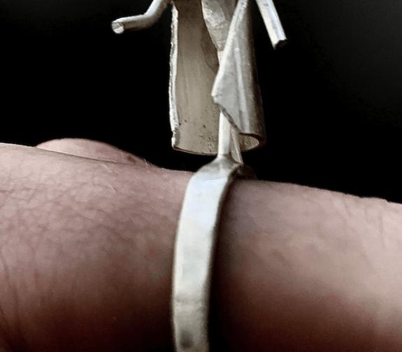 Hooded Man Ring