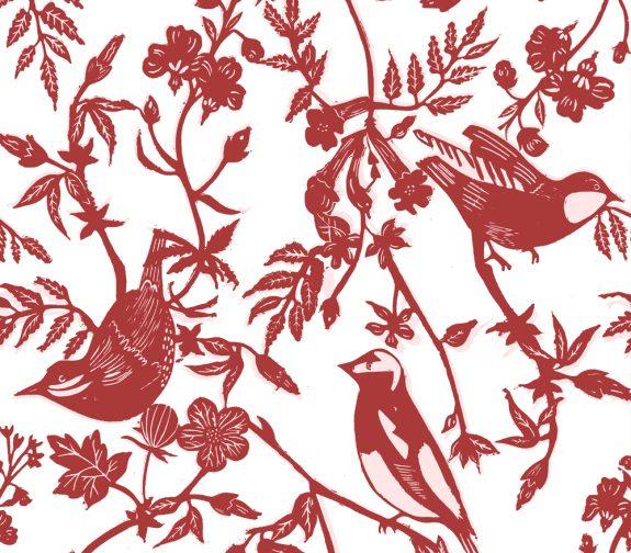 British Birds in Red