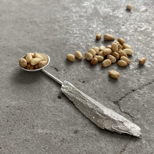 Cast Wood Chip Serving Spoon