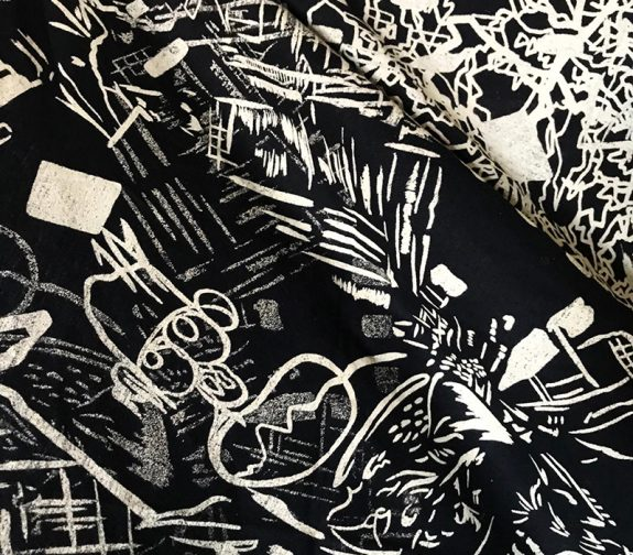 Lennon VAT print on up-cycled Jersey