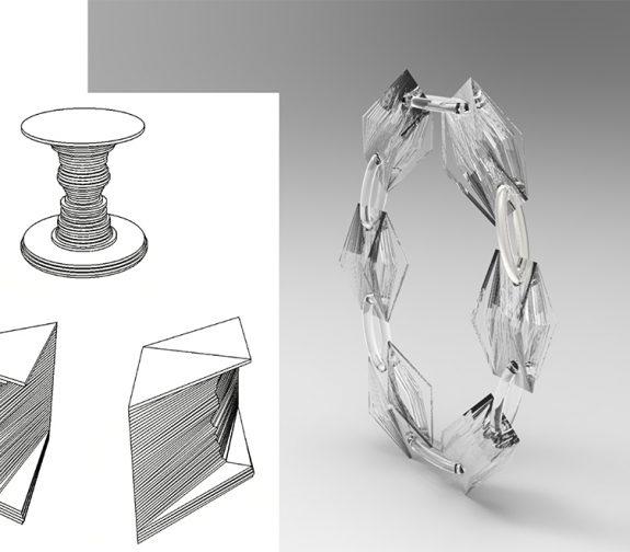Rubins Vase series - Faces-Bracelet
