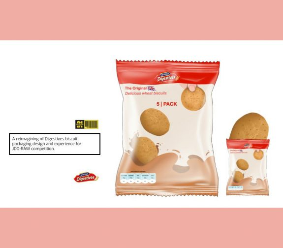 Digestive snacking pack