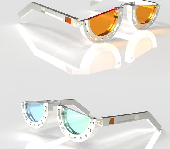 Architectural Eyewear - Material: silver, glass, Fanta stone
