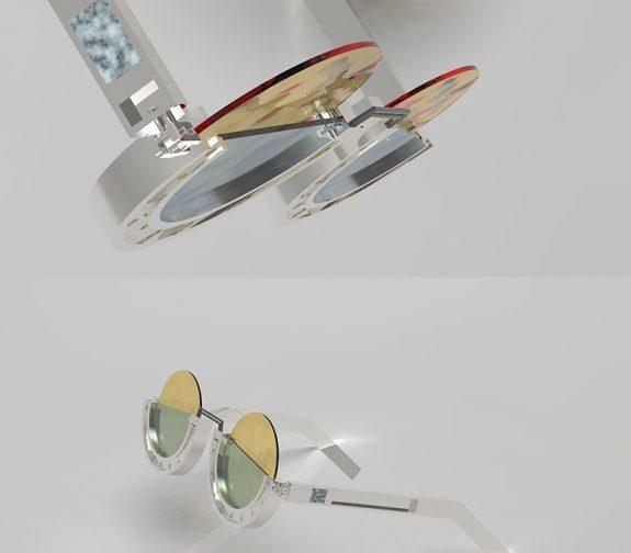 Architectural Eyewear - Materials: silver, glass, granite