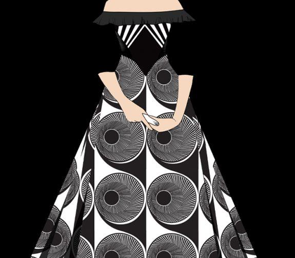 Costume plate for Carlotta Valdes for a Re-design of Vertigo
