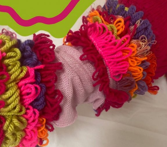 Coral ripples knit sample