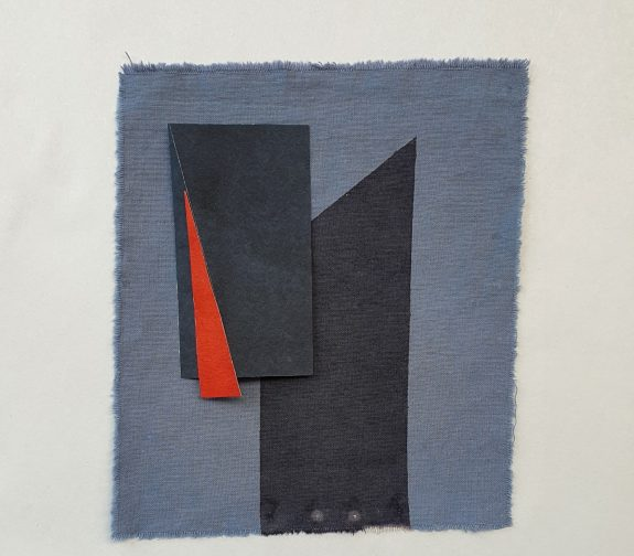 'Transitional' Fabric and paper collage