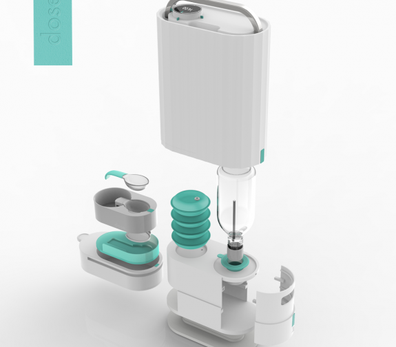 Liquid medication dispensing device