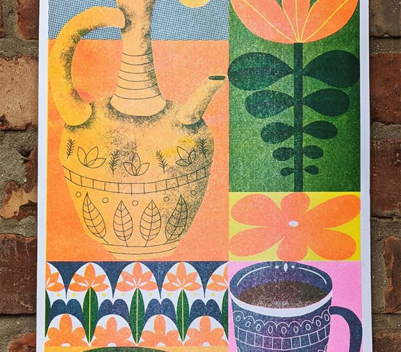 'Ethiopia' Riso Print