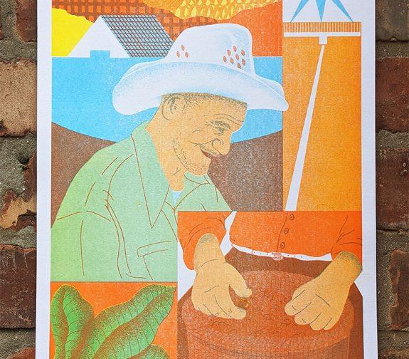 'Honduras' Riso Print