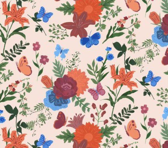 'Blushing Botanicals' Feature design.