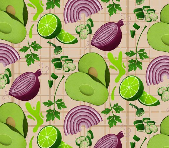 Guacamole Ingredients Pattern