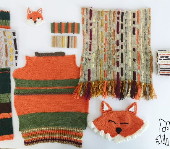 What will we see in the woods today? - Fabio fox knit samples