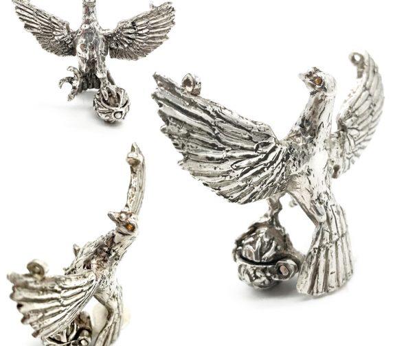 FREEDOM - Phoenix silver pendant