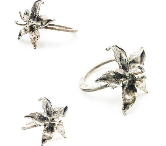 FREEDOM - Orchid silver ring