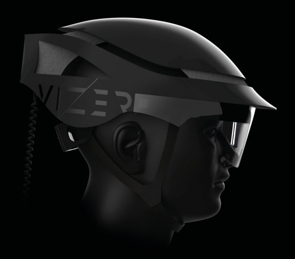VIZER augmented reality cycle helmet