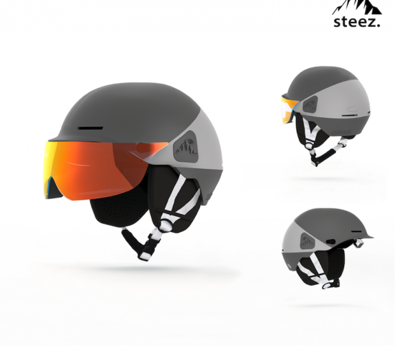 Navigation and Safety Helmet for Off-Piste Snowboarders
