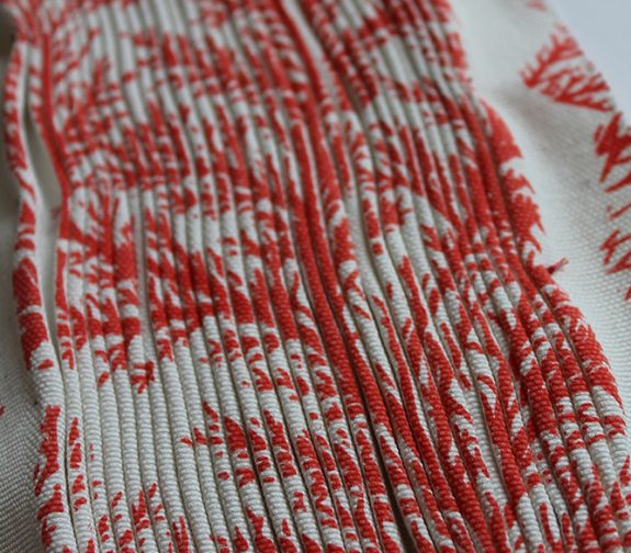 Symbiosis - Pleated Branch Coral Print