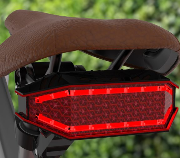 'LUZ' Rear Bike Light. Aiming to prevent cycling accidents.
