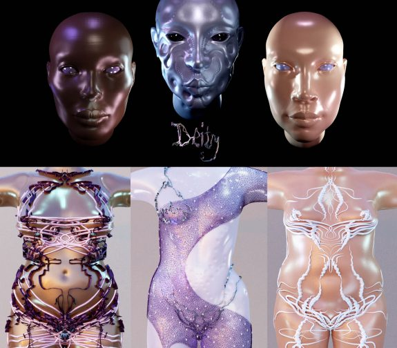 Deity: Exploring Body Inclusivity within 3D Digital Identities and Contour Design.