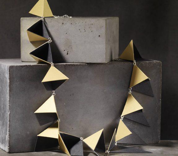Triangular Pyramid Shadow Necklace