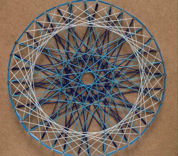 Self reflection Mandala string art