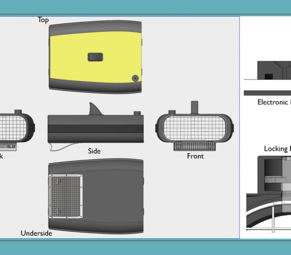 Marine Surface Cleaning Device - Detailed View