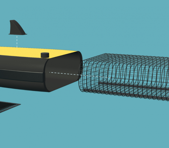 Marine Surface Cleaning Device - Exploded View