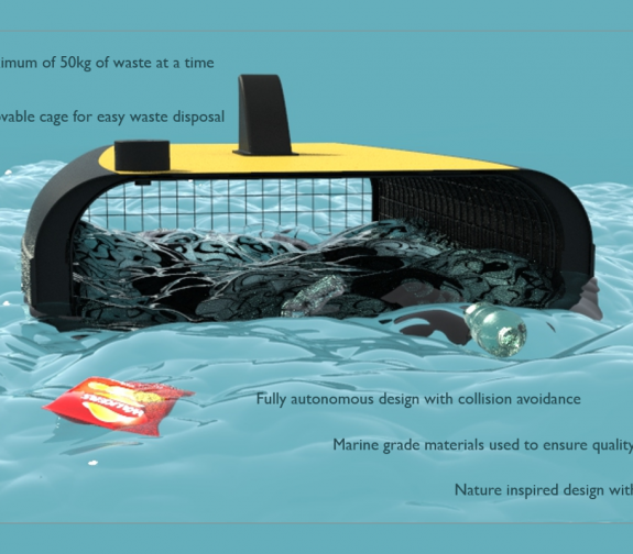 Marine Surface Cleaning Device - Features