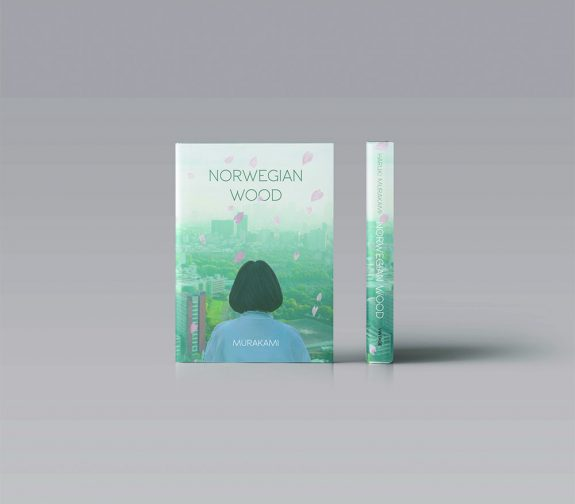 Book cover design for the Penguin Random House Student Design Awards 2019 (Adult Fiction cover award): Norwegian Wood by Haruki Murakami