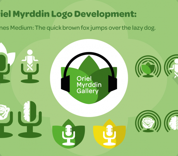 Oriel Myrddin Logo Development