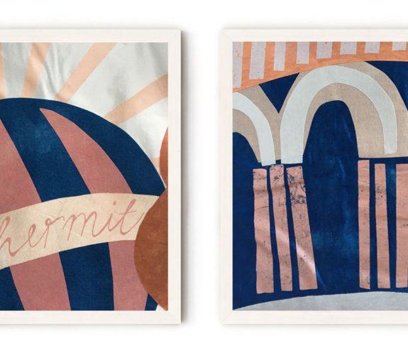 The cards of destiny - appliquéd motifs