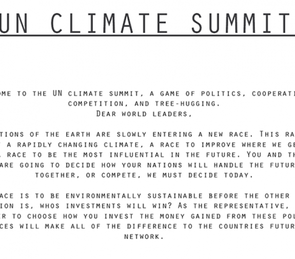 'Climate Summit' - (Game)
