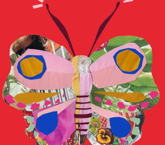 Destination pillowland - Existential crisis butterfly print