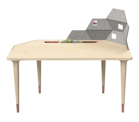 Trapezia: Mindful Desk with Modular Screen