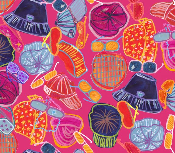 Everyday is payday at 1C - Hats and sunnies galore print