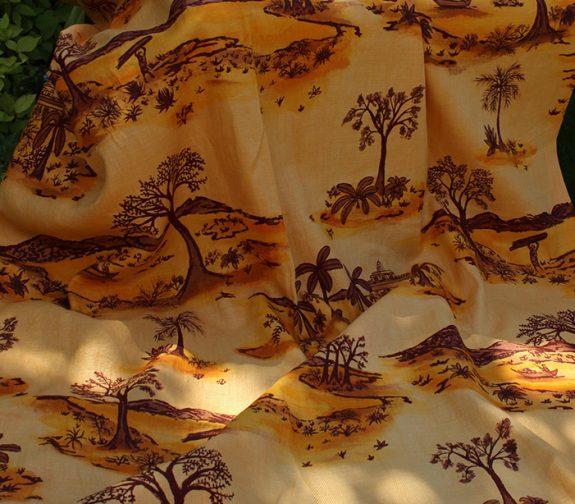 Chhatrasgar - Fabric Screenprint