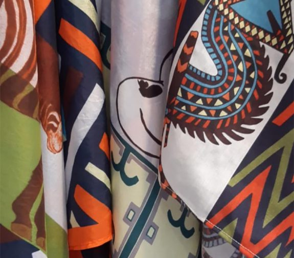 The Power of African Culture - Printed Fabric Detail