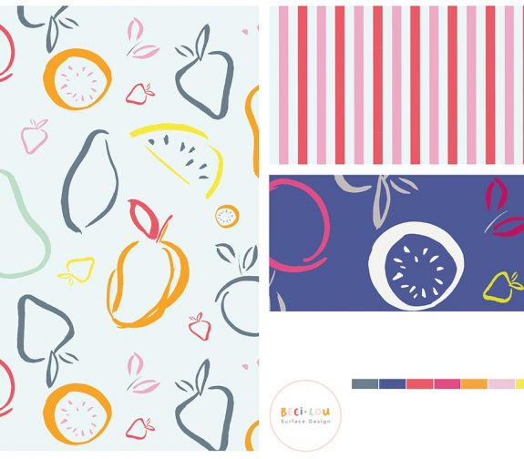Fruit, Farms and Florals - Surface Pattern Design