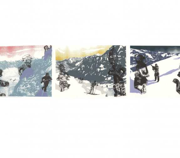 Inuit ghosts and transformation spirits triptych