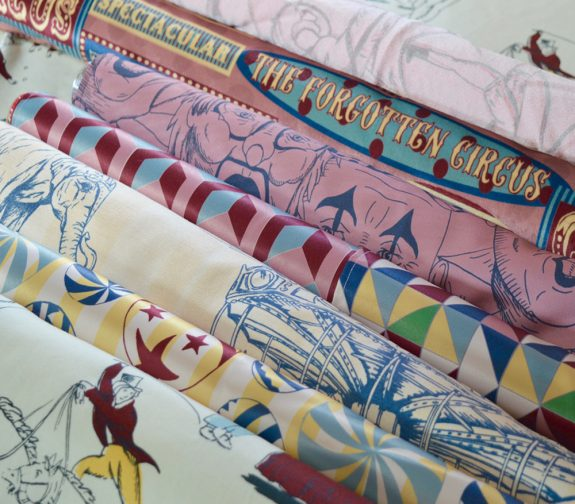 'The Forgotten Circus' overall fabric collection