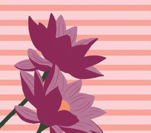 'Blushing Botanicals'. Stripe co-ordinate.