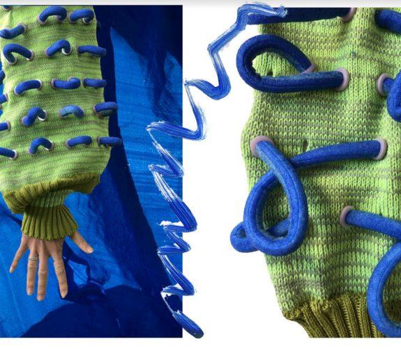Bam and PomPom - knit samples