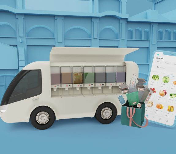 Reverse - A package-free grocery delivery service
