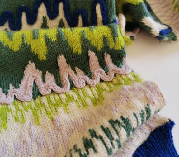 What a treat! - Wiggles and drizzles knit sample